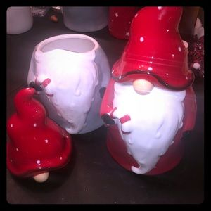 Rae Dunn Holiday - Super Cute Ceramic Gnomie Canisters